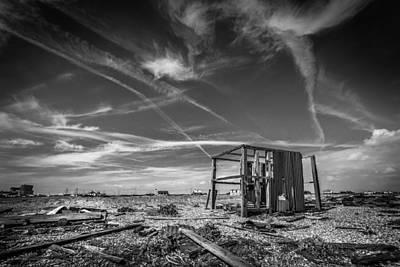 Photograph - The Derelict Beach Hut by Gary Gillette
