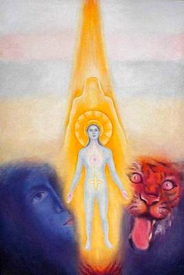 Painting - The Descent Of The Truth-consviousness by Shiva  Vangara