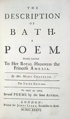 The Description Of Bath Art Print by British Library