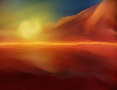 Mixed Media - The Desert Is Hot by Dennis Buckman