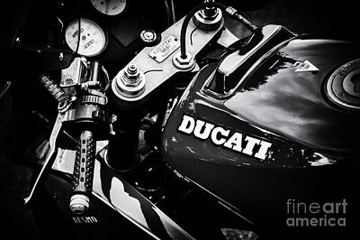 Photograph - The Desmo Monochrome by Tim Gainey