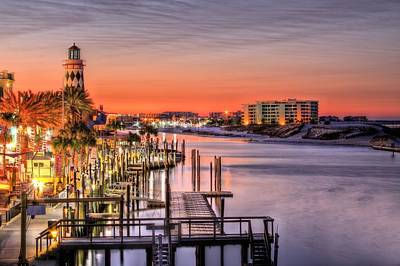 The Destin Harbor Walk Art Print