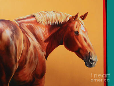 Painting - The Destrier by Charice Cooper