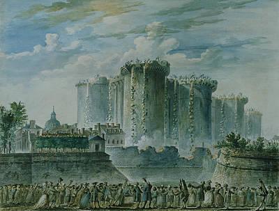 The Destruction Of The Bastille, 14th July 1789 Wc & Gouache On Paper Art Print