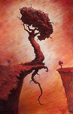 Tree Creature Painting - The Determined Existence  by Ethan Harris