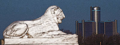 Photograph - The Detroit Sphinx by Steven Dunn