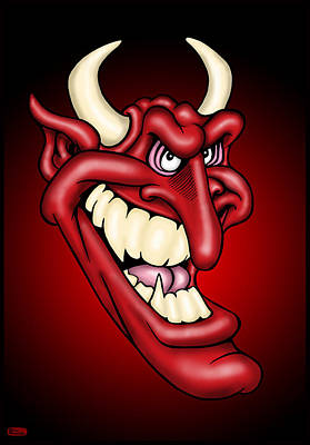 Wall Art - Digital Art - The Devil by Bill Proctor