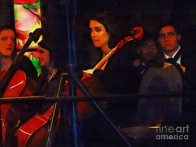 Portaits Digital Art - The Devil's Orchestra by RC DeWinter