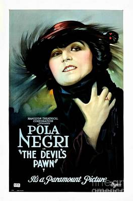 Pawn Painting - The Devil's Pawn Pola Negri by Paramount