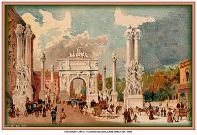 Painting - The Dewey Arch- Madison Sq.- New York City- 1900 by Dwight Goss