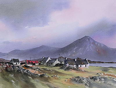 Mixed Media - The Diamond Hill Lettrfrack Galway by Val Byrne