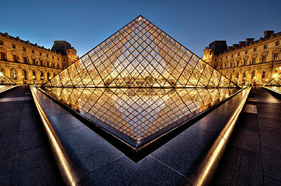 Louvre Photograph - The Diamond by Marc Pelissier