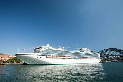 Cruise Liner Photograph - The Diamond Princess Cruise Ship by Ashley Cooper