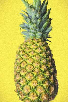 Photograph - The Digitally Painted Pineapple by David Haskett II