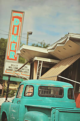 Sunday Drive Photograph - The Diner by Carrie Ann Grippo-Pike