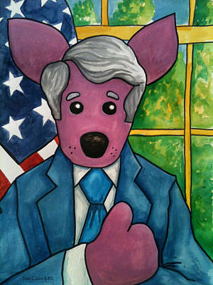 The Dingo Starring As A Trusty Politician Original by Yvonne Lozano