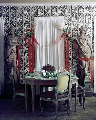 1960 Photograph - The Dining Room In James A. Beard's Home by Richard Jeffery