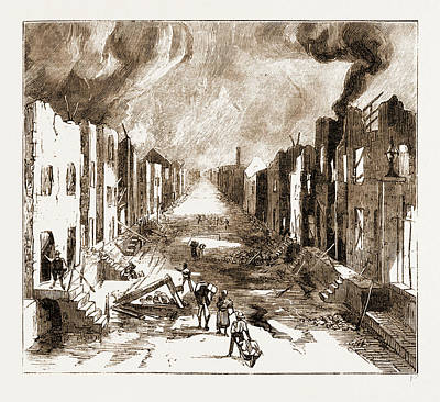 The Disastrous Fire At Kingston, Jamaica Print by Litz Collection