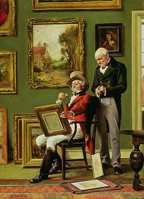 Inspecting Painting - The Discerning Collector by Arthur Longlands Grace
