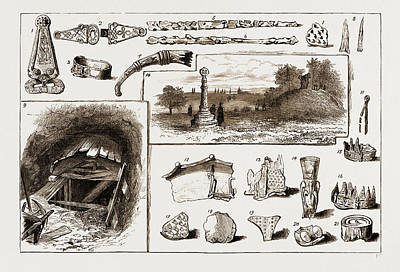 The Discovery Of A Vikings Remains At Taplow, Uk, 1883 1 Art Print by Litz Collection