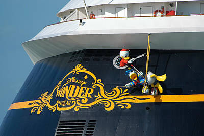 Photograph - The Disney Wonder by Bradford Martin
