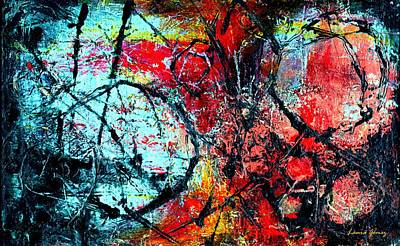 Abstracto Painting - The Distance - Abstract Art By Laura Gomez - Horizontal Size by Laura  Gomez