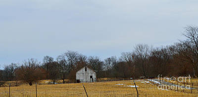 Indiana Photograph - The Distant Barn by Alys Caviness-Gober