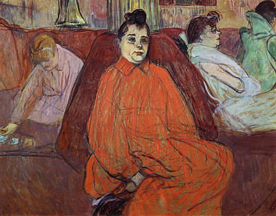 Impressionist Photograph - The Divan, 1893 Gouache & Pastel On Cardboard by Henri de Toulouse-Lautrec