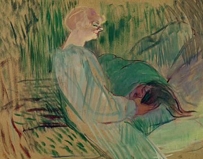 Prostitutes Pastel - The Divan Rolande by Henri de Toulouse-Lautrec