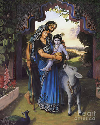 Painting - The Divine Family by Vishnudas Art