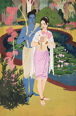 Painting - The Divine Love by Tulsidas Tilwe