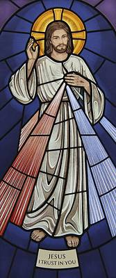 Glass Art - The Divine Mercy by Gilroy Stained Glass