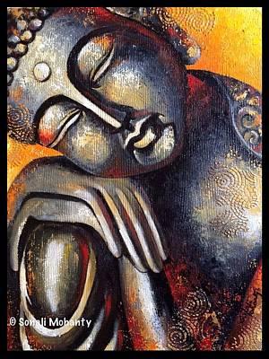 Sleeping Buddha Painting - The Divine Sleep by Sonali Mohanty