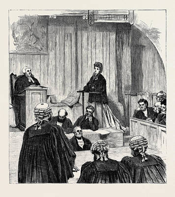 The Divorce Court Art Print by English School
