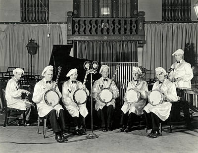Photograph - The Dixie Melodists Band by Underwood Archives