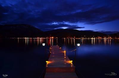 Skaha Lake Photograph - The Dock  - Skaha Lake 02-21-2014 by Guy Hoffman