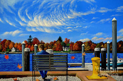 Painting - The Dock By Christopher Shellhammer by Christopher Shellhammer