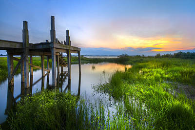 Florida Bridge Photograph - The Dock by Debra and Dave Vanderlaan