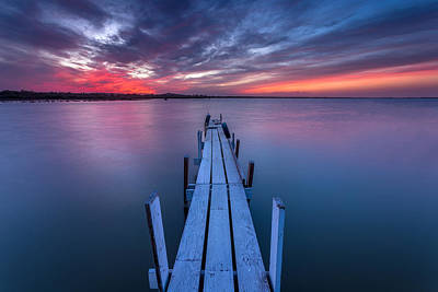 Featured Tapestry Designs - The Dock I by Peter Tellone