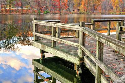 The Dock Art Print by JC Findley