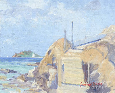 Saba Painting - The Dock Water Island by Candace Lovely