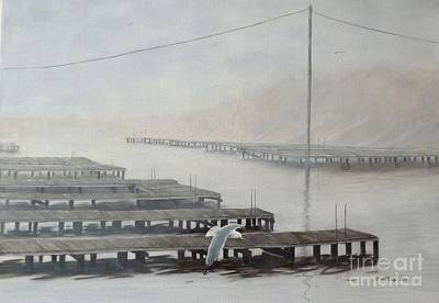 The Docks Art Print by Gilles Delage