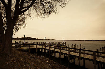 The Docks On Lake Minnetonka Art Print