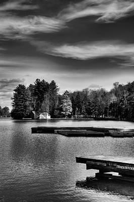 The Docks On Old Forge Pond Art Print