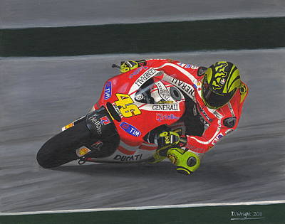 Motogp Painting - The Doctor by David Wright