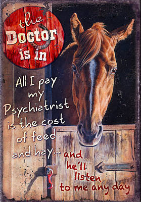 Rodeo Painting - The Doctor Is In by JQ Licensing