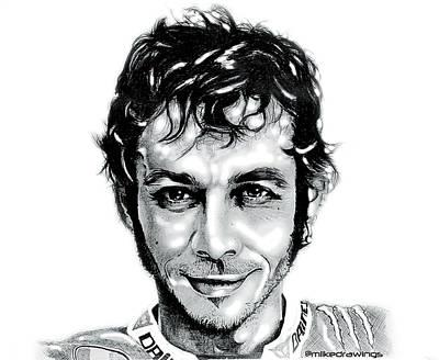 The Doctor Valentino Rossi Art Print