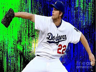 Los Angeles Dodgers Digital Art - The Dodgers Clayton Kershaw by Israel  A Torres