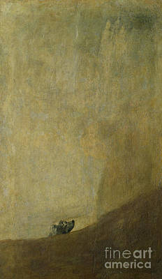 Of Dogs Painting - The Dog by Goya