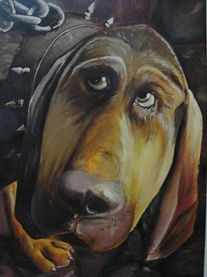 Painting - The Dog by Sergey Selivanov